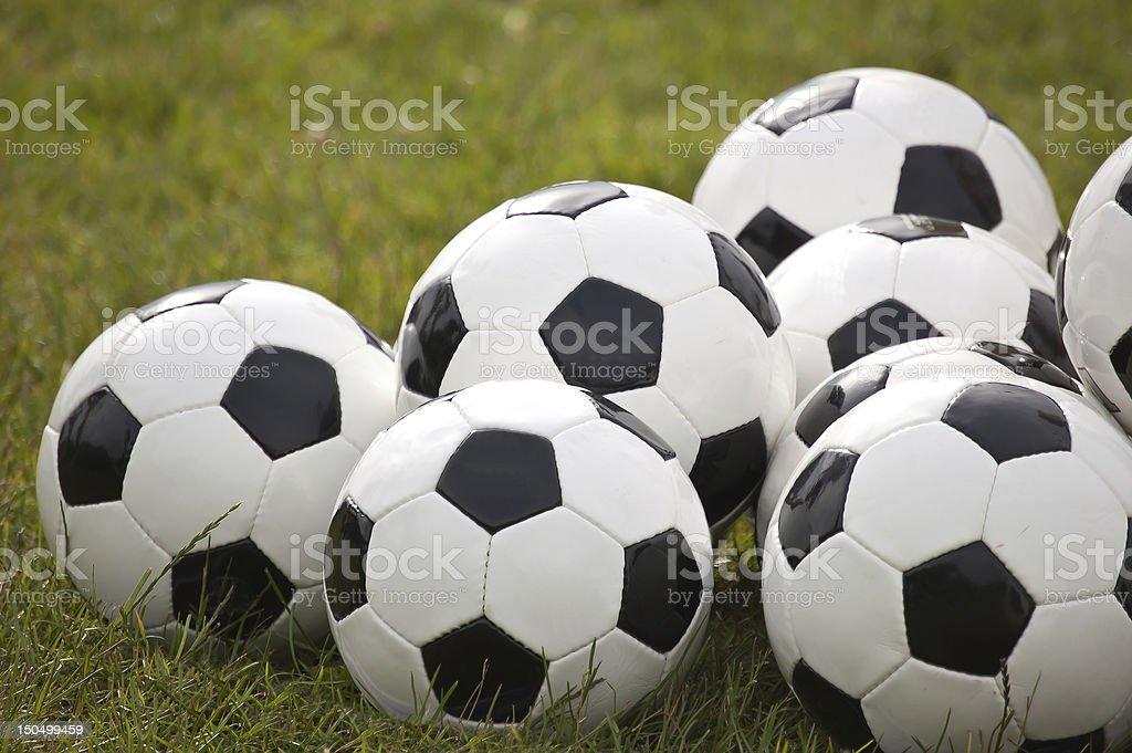 Practice Soccer Balls royalty-free stock photo