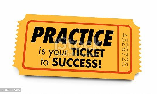 Practice Ticket to Success Prepared Preparation 3d Illustration