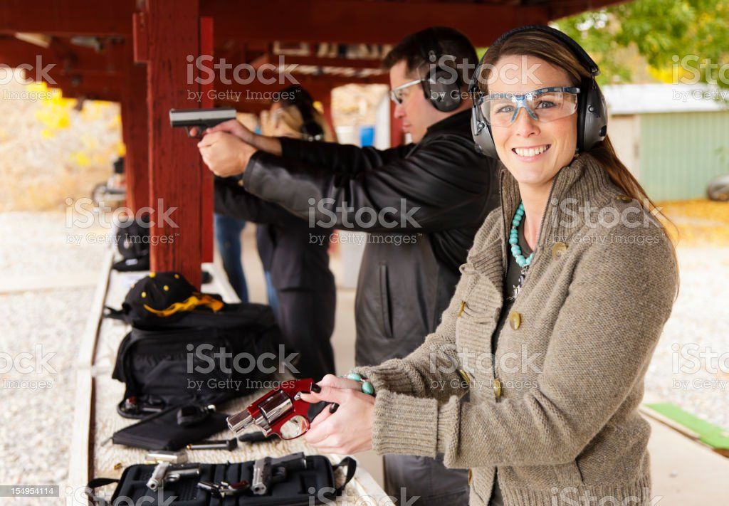 Practicing at the Shooting Range royalty-free stock photo
