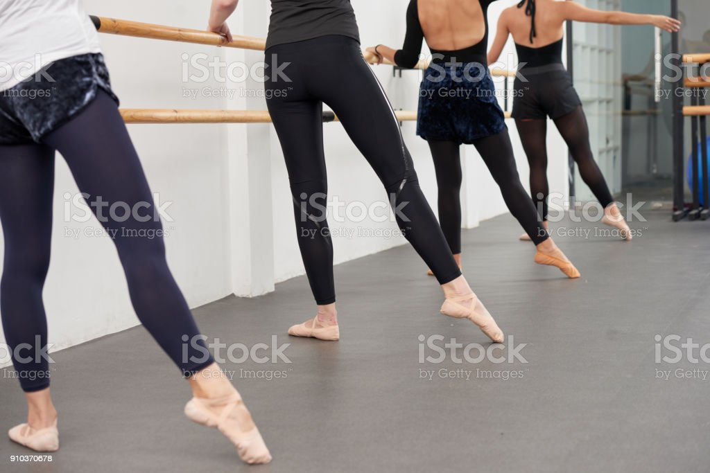 Practicing ballet stock photo