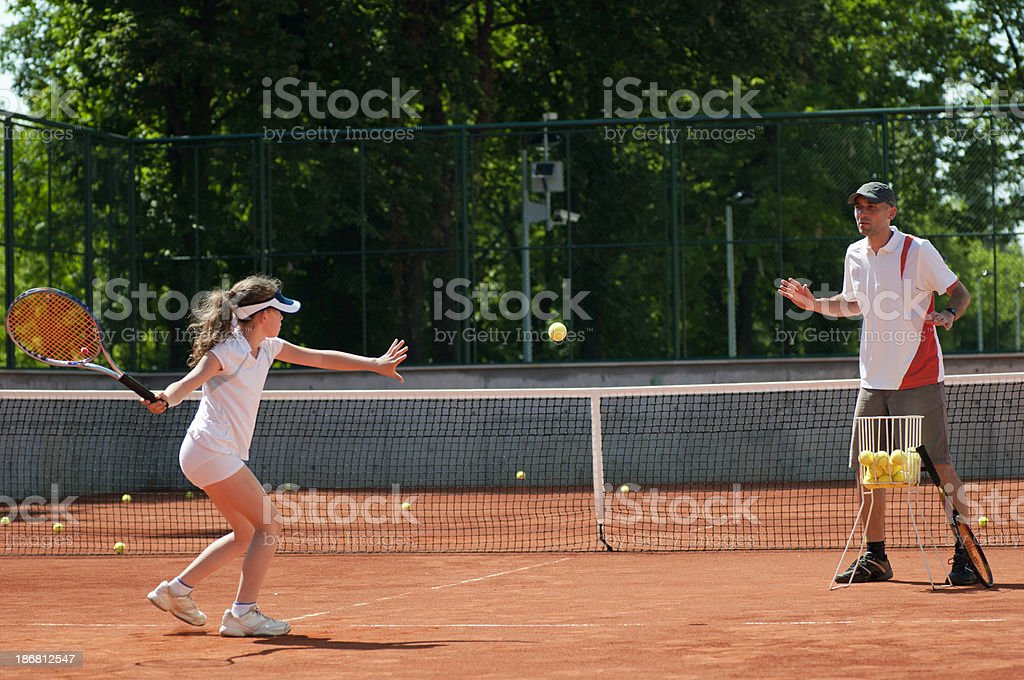 Practicing forehands stock photo