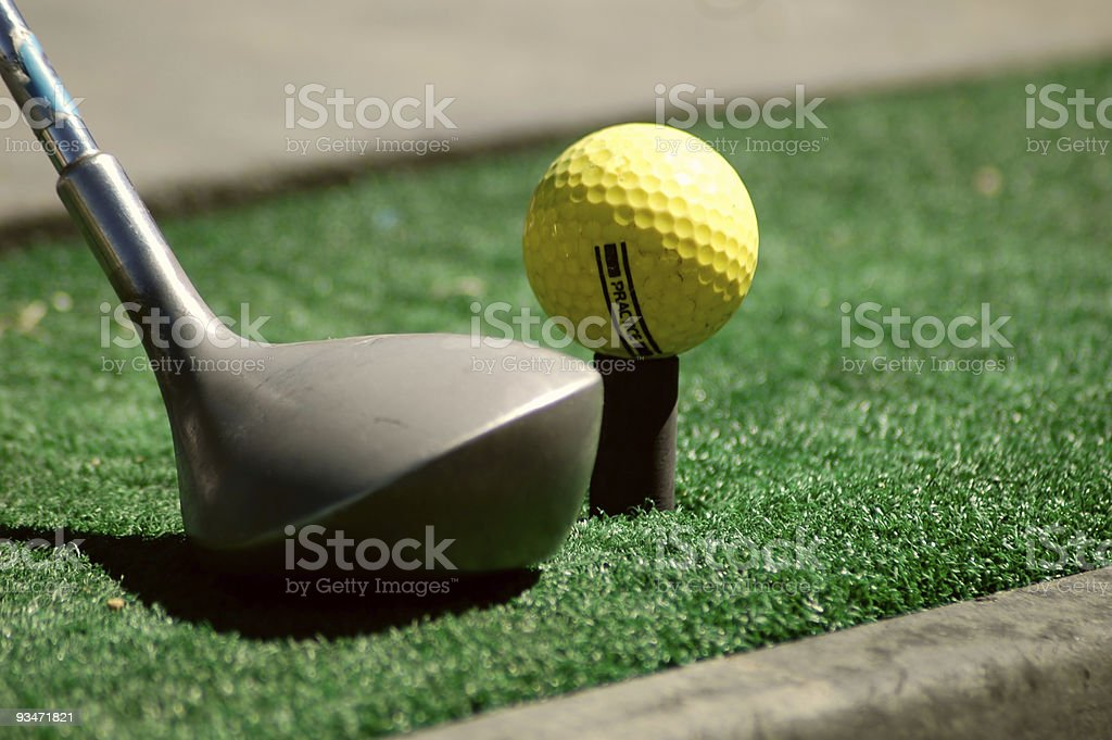 Practicing Golf royalty-free stock photo