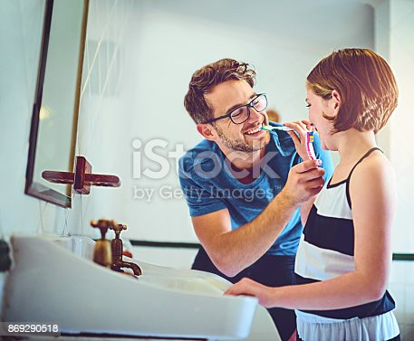 684029036 istock photo Practicing healthy habits together 869290518