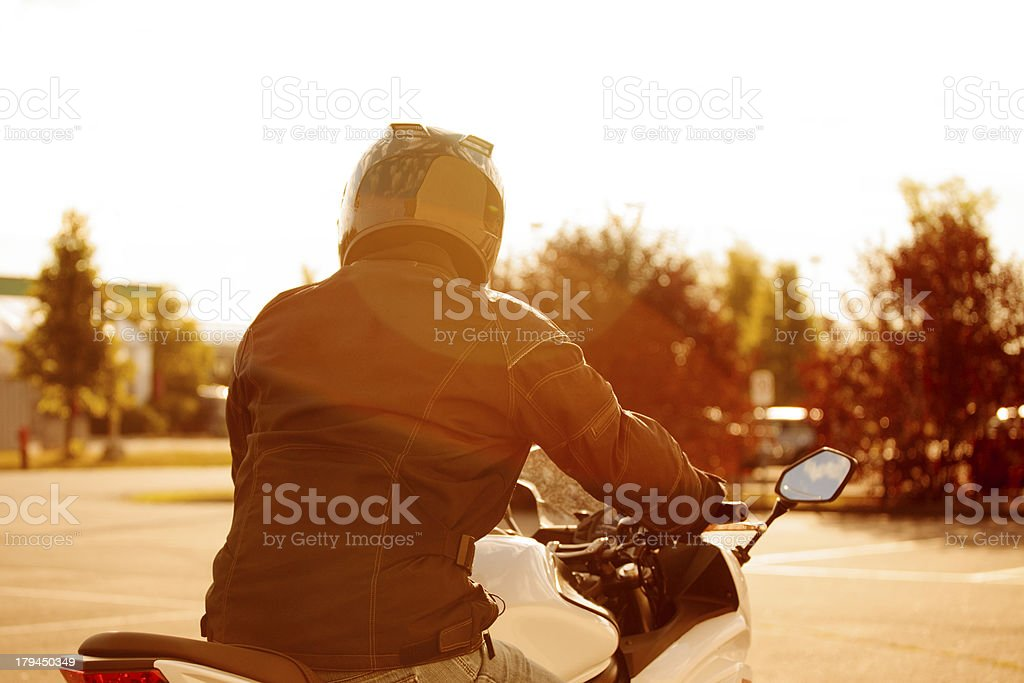 Practicing on closed circuit royalty-free stock photo
