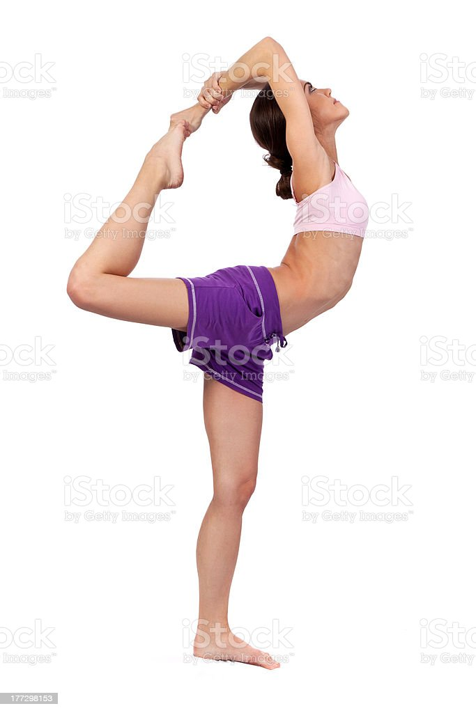 Practicing Yoga. Beautiful woman royalty-free stock photo