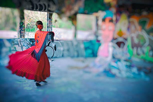 Practising Flamenco.. stock photo