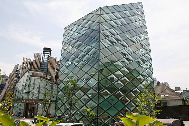 Prada Aoyama flanked by the Cartier building stock photo