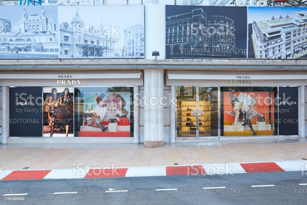 Prada fashion luxury store in Monte Carlo, Monaco.