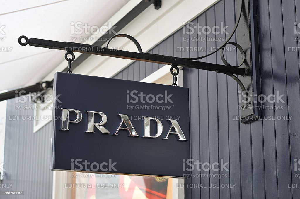 Prada sign stock photo
