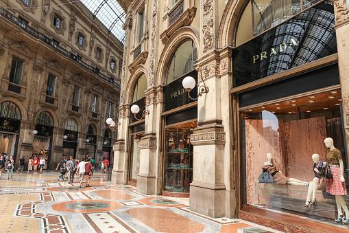 Prada Store in Milan, Italy