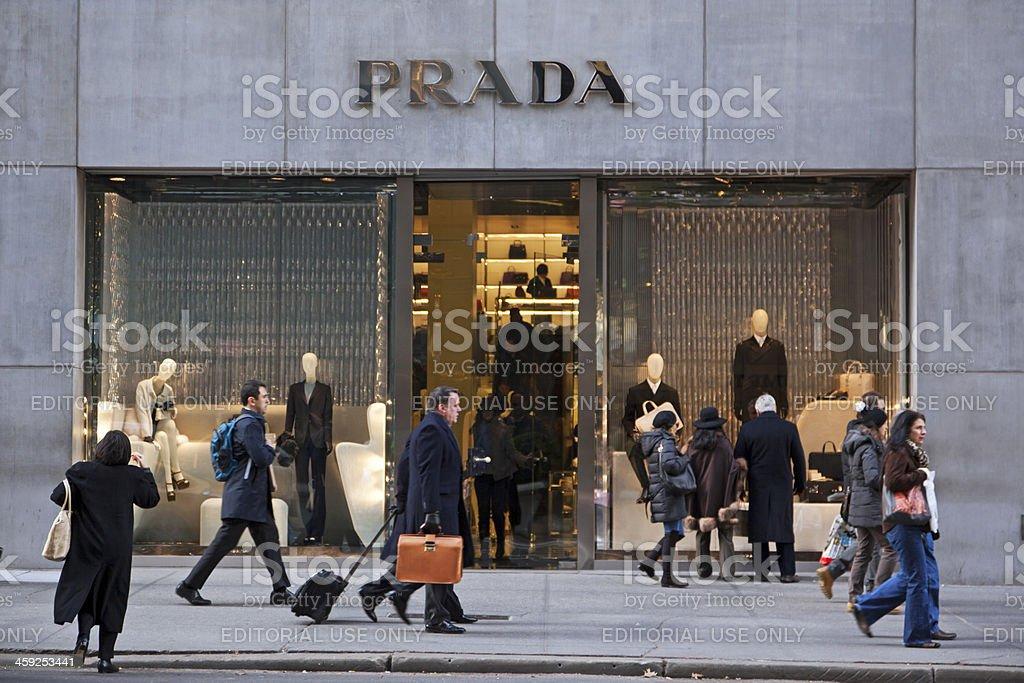 Prada store NYC royalty-free stock photo