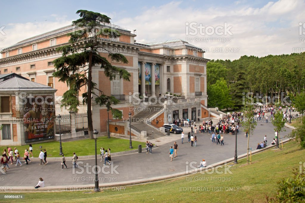 Prado Museum in Madrid, Spain stock photo