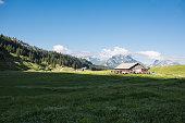 mountain pass in canton schwyz wit beautiful landscape
