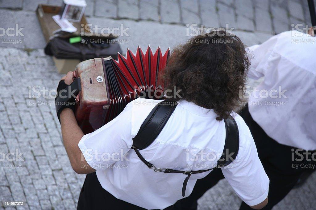 Prague: Accordian Player royalty-free stock photo