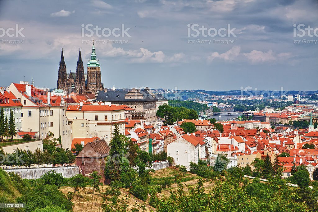 Prague And St.Vitus Cathedral royalty-free stock photo