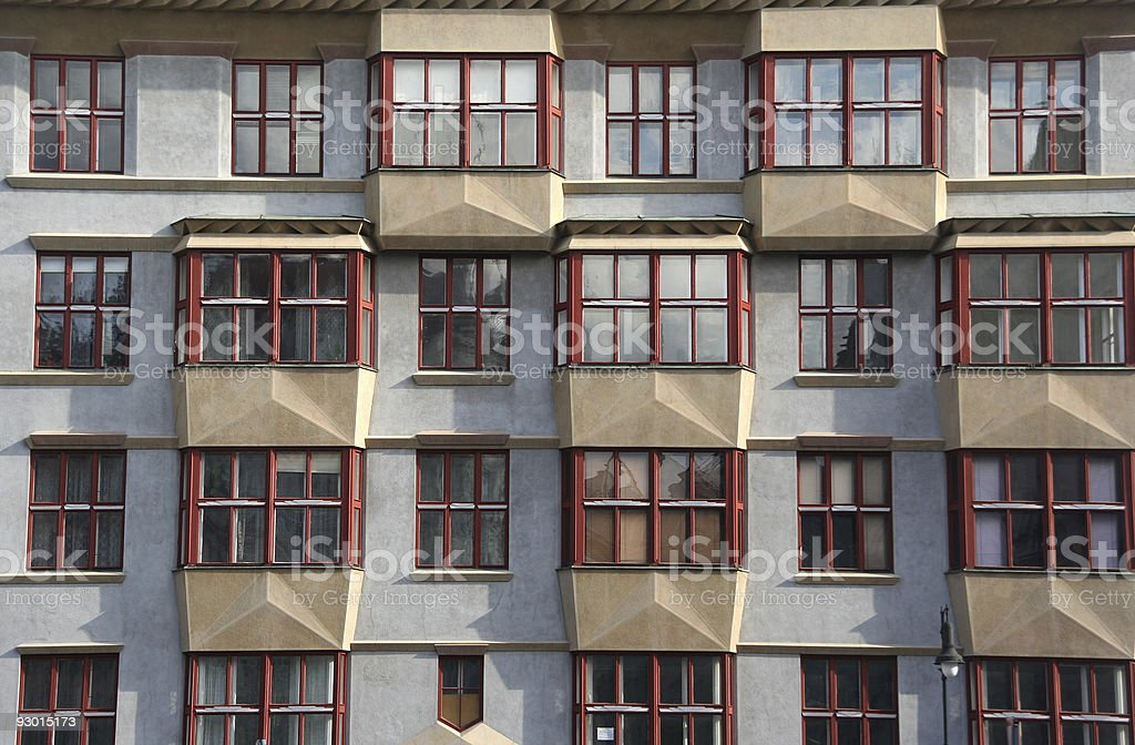 Prague Apartments stock photo