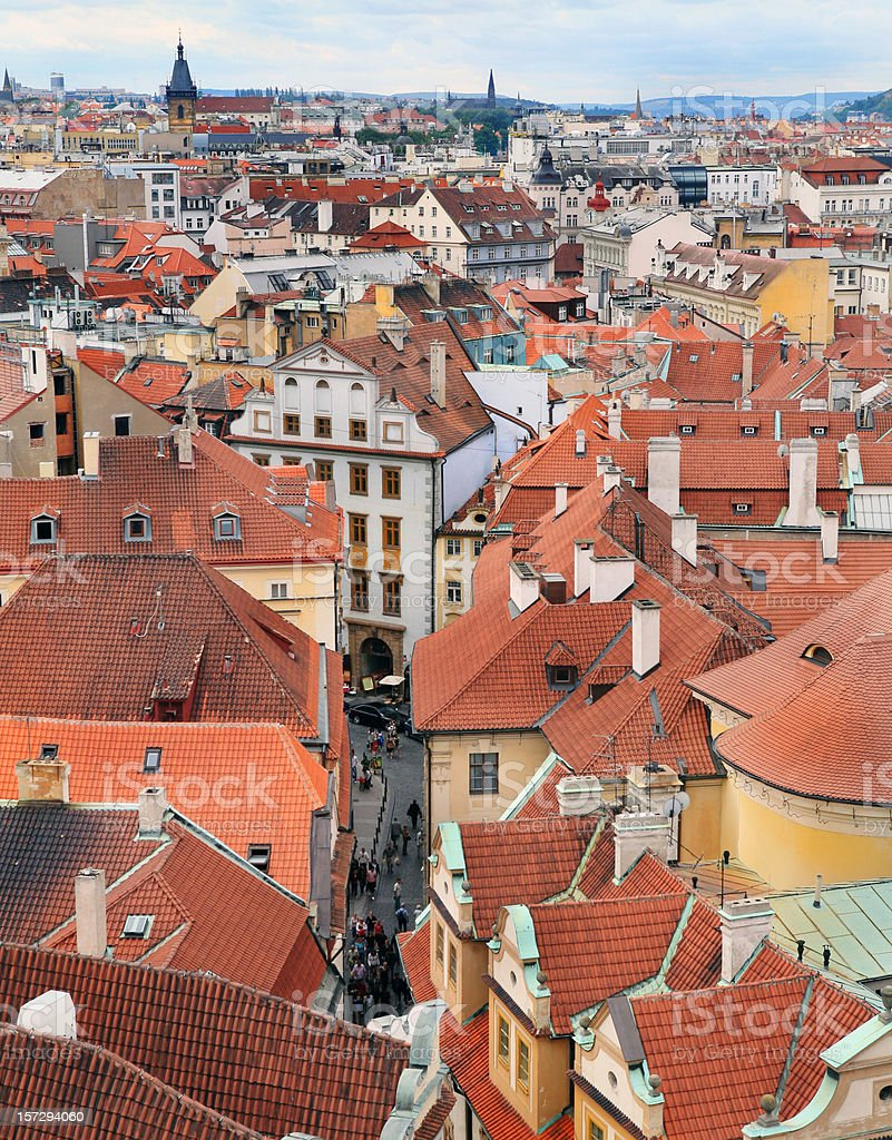 Prague Architecture Panorama in Czech Republic royalty-free stock photo