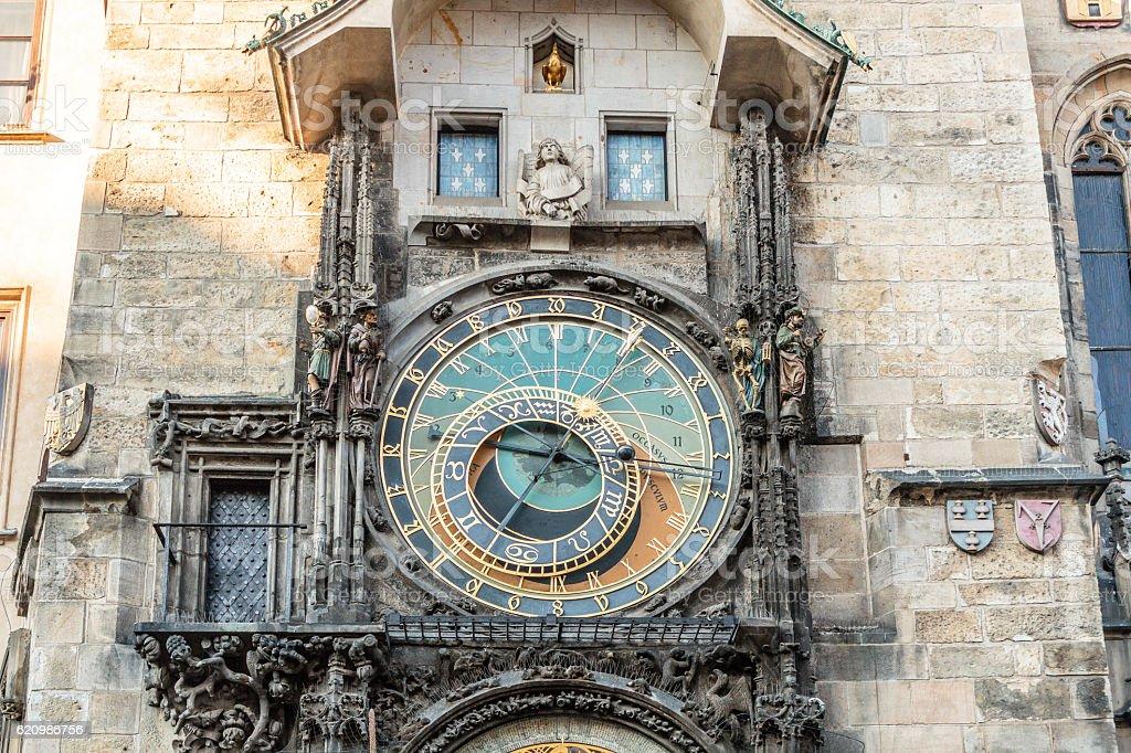 Prague Astronomical Clock at Prague, Czech Republic foto royalty-free