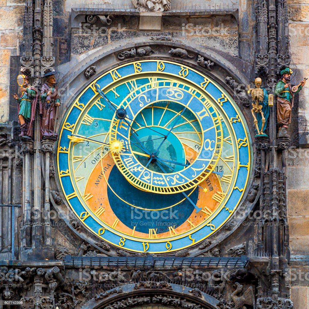 Prague Astronomical Clock (Orloj)  in Prague stock photo