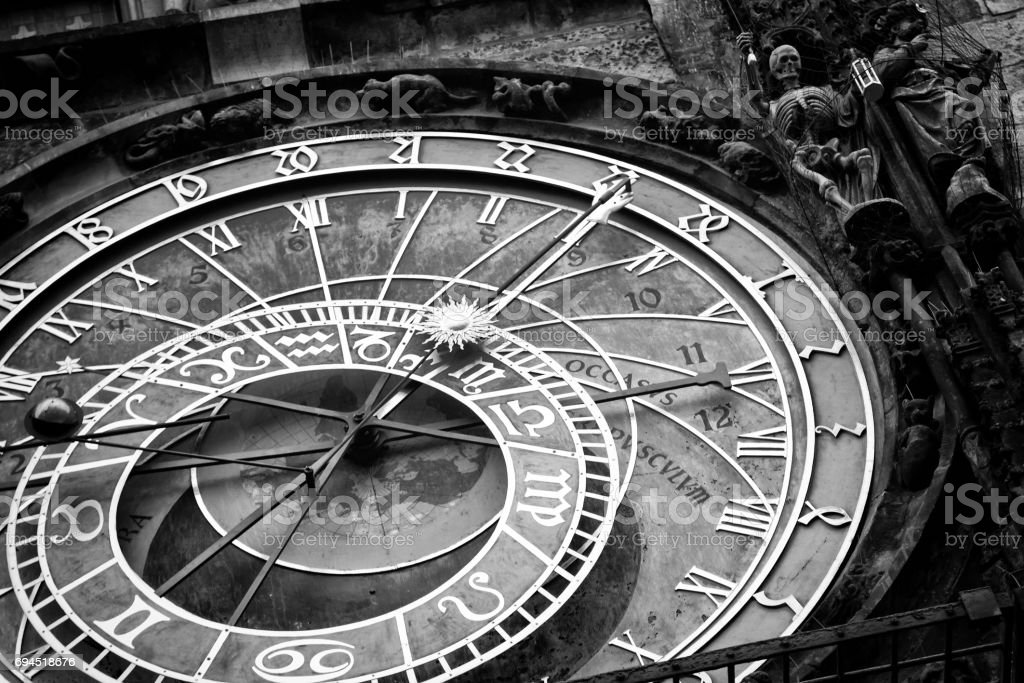 Prague Astronomical Clock in the Old Town stock photo