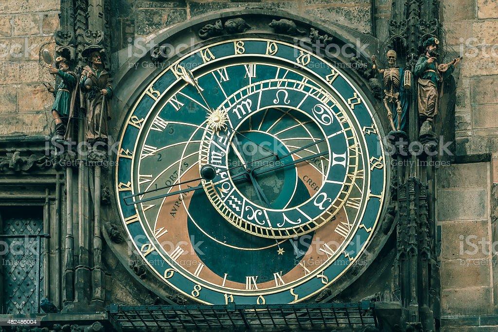 Prague Astronomical Clock Orloj in Old Town Square stock photo