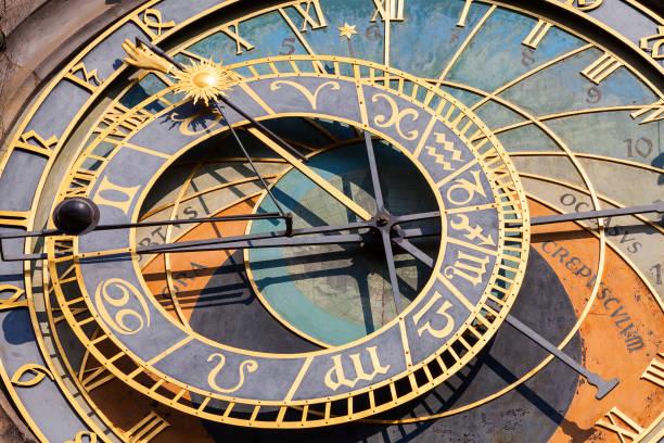 Prague astronomical clock Orloj on Old Town Hall, Prague, Czech Republic, Europe Prague astronomical clock Orloj on Old Town Hall, Prague, Czech Republic, Europe astronomical clock stock pictures, royalty-free photos & images