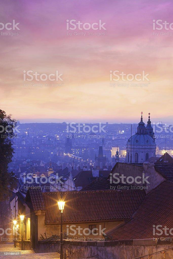 Prague at 5 am royalty-free stock photo