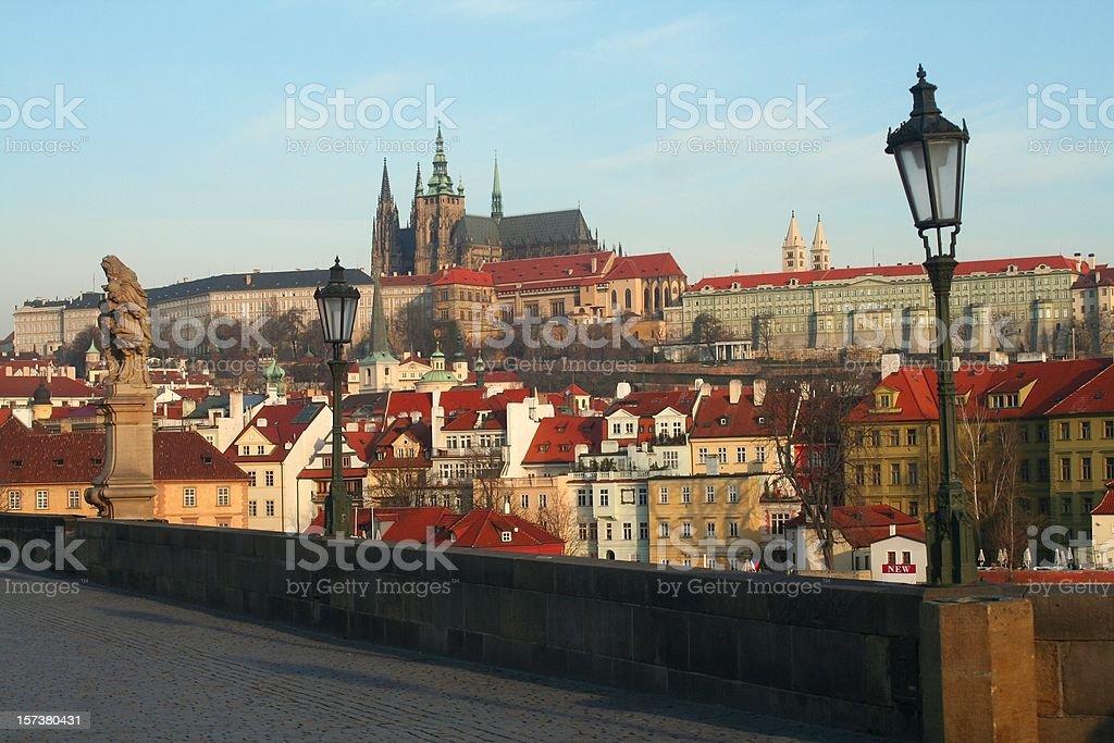 Prague at morning royalty-free stock photo
