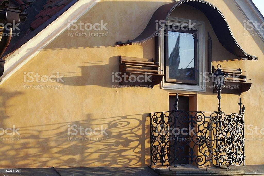 Prague balcony royalty-free stock photo