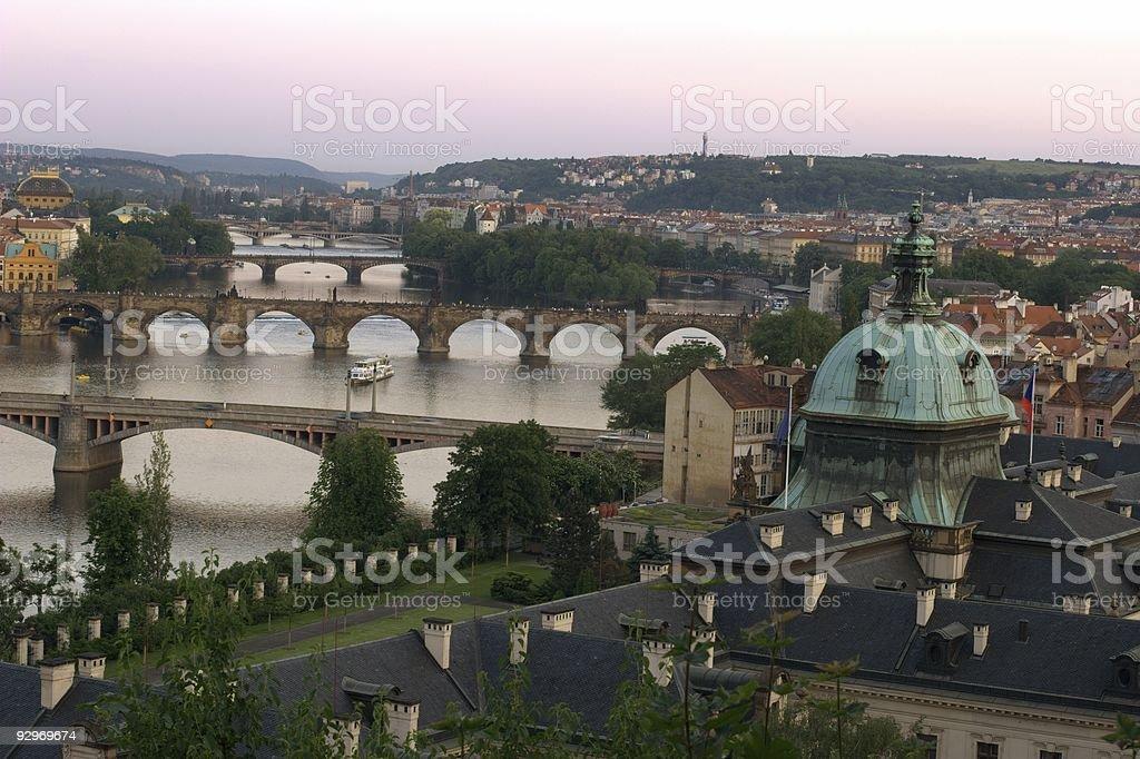 Prague bridges royalty-free stock photo