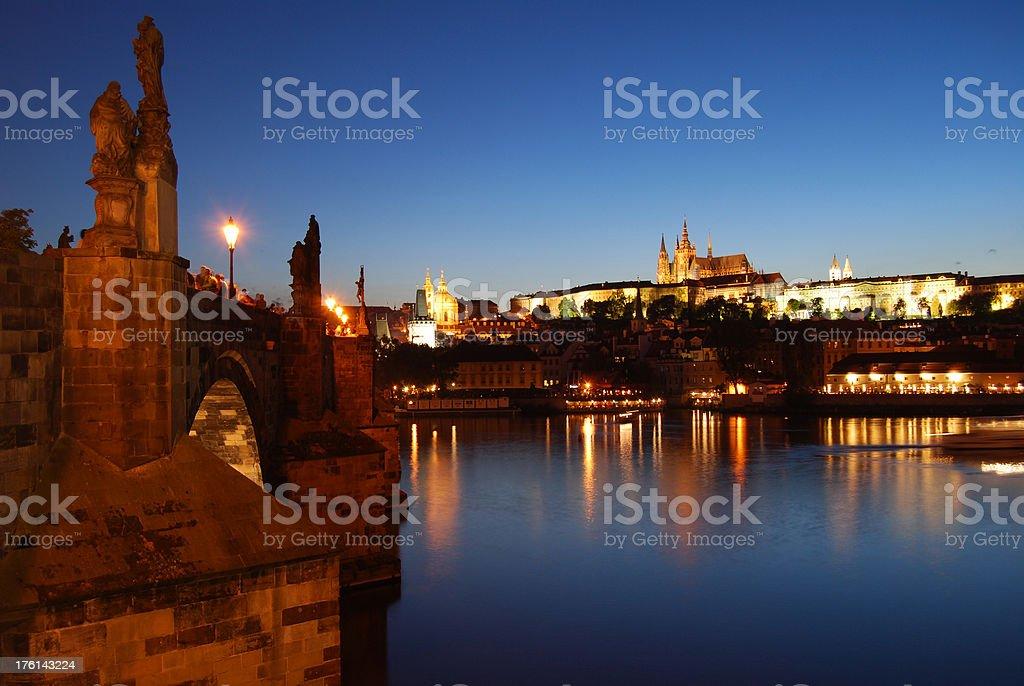 Prague by night. royalty-free stock photo