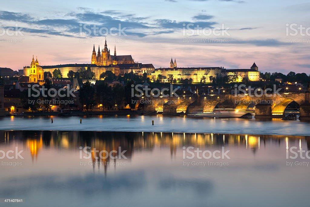 Prague by night royalty-free stock photo