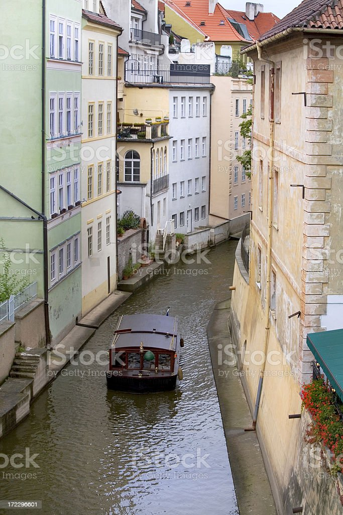Prague Canal Mala Strana Czech Republic stock photo