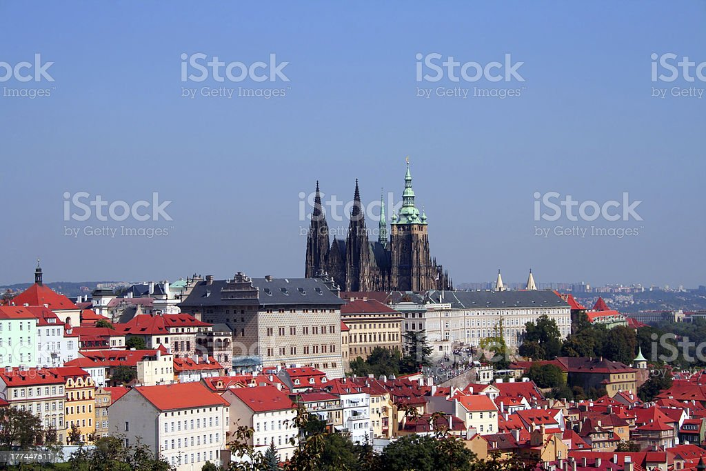 Prague Castle and Hradcany district royalty-free stock photo
