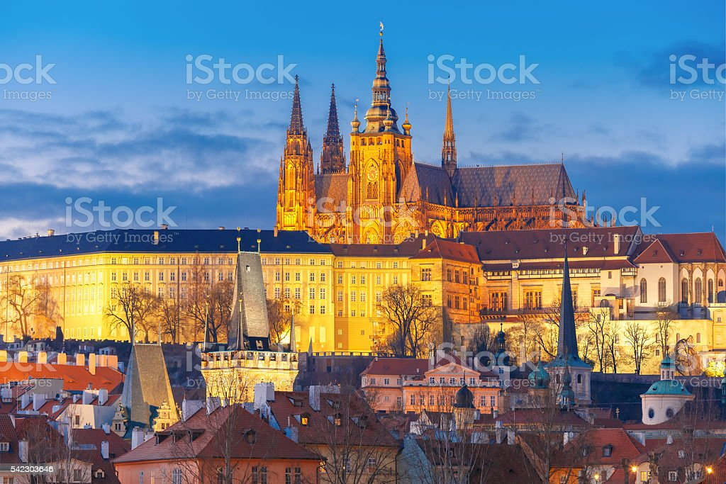 Prague Castle and Mala Strana, Czech Republic stock photo