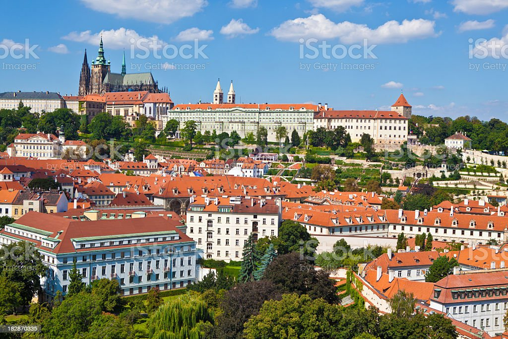 Prague castle at Czech Republic stock photo