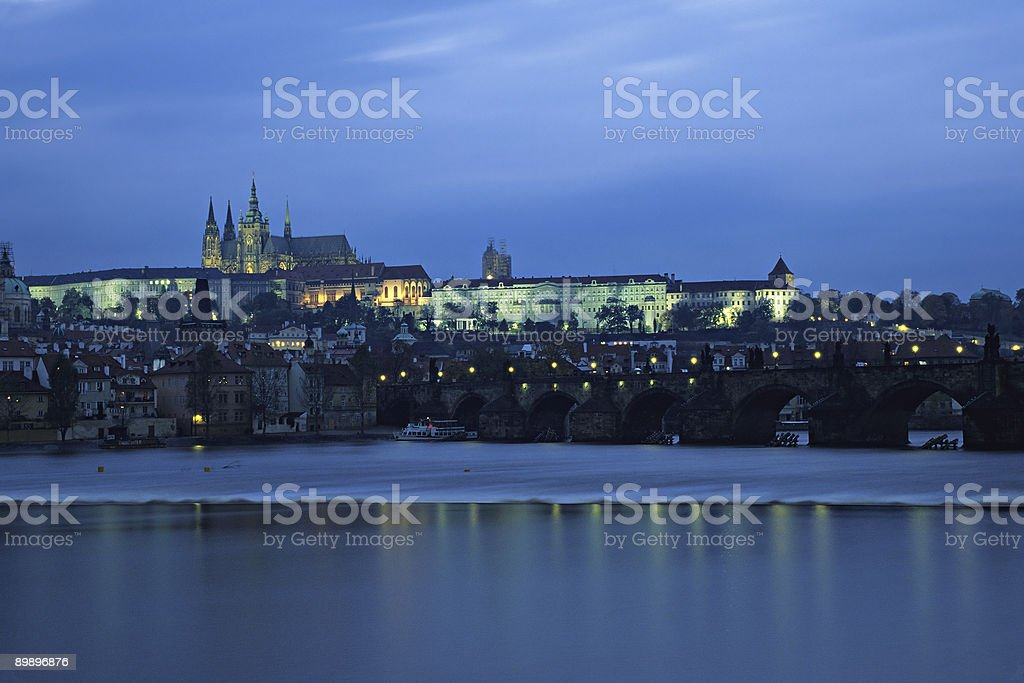 Prague castle at night royalty-free stock photo