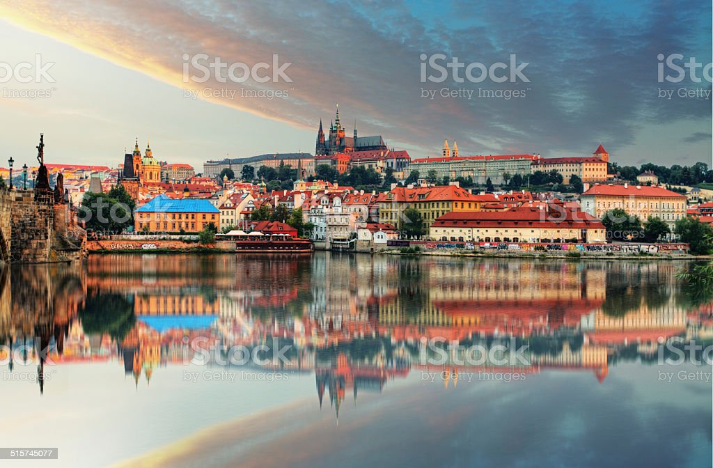 Prague castle, Czech republic, Hradcany stock photo