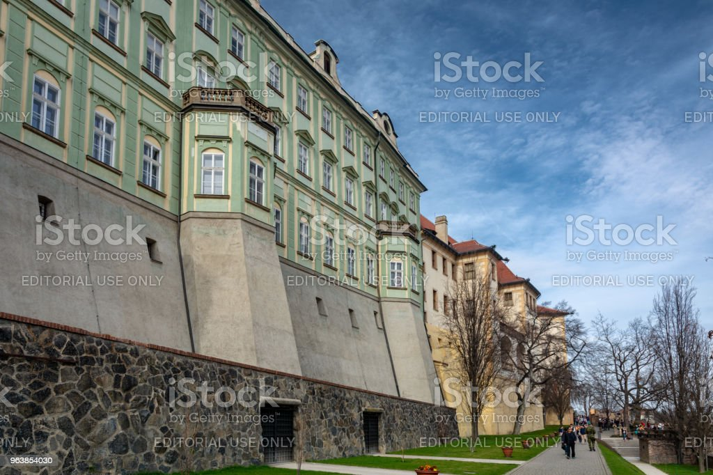 Prague Castle from outside the walls - Royalty-free Ancient Stock Photo