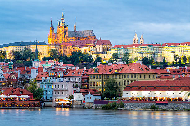 Prague Castle, Hradcany, Old Town, Prague, Czech Republic stock photo