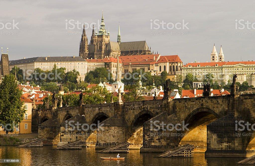 Prague Castle With Bridge royalty-free stock photo