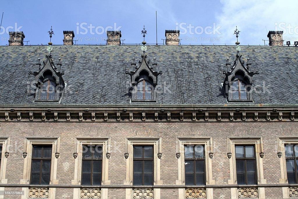 Prague castle's facade royalty-free stock photo