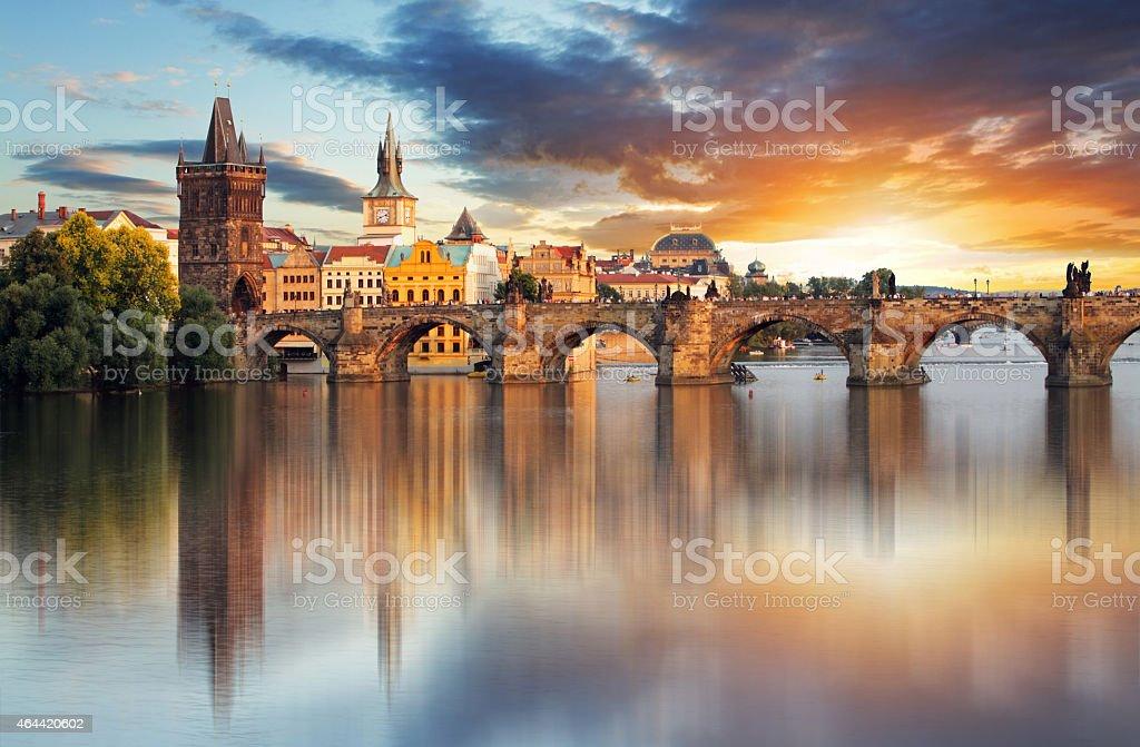 Prague - Charles bridge, Czech Republic stock photo