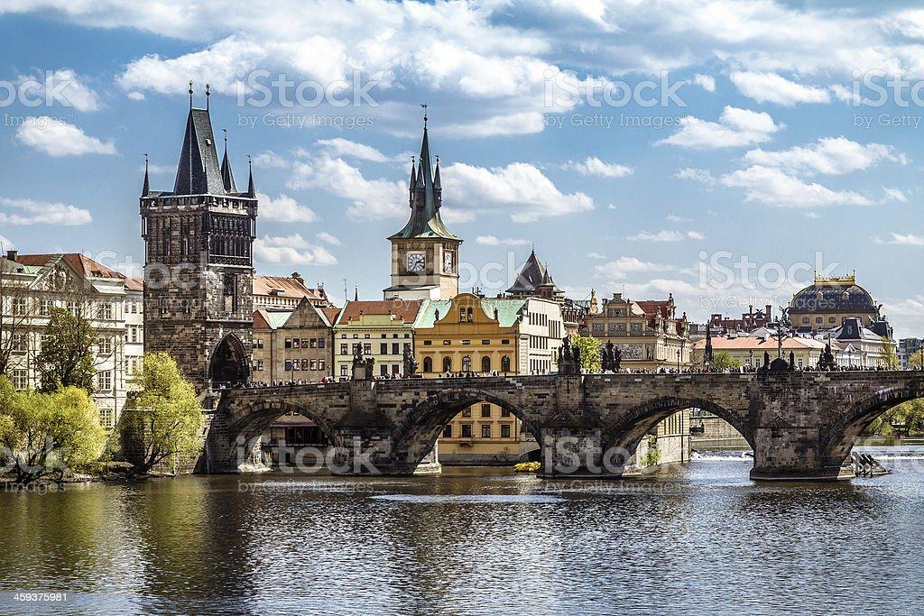 Prague, Charles Bridge (Karluv Most) stock photo
