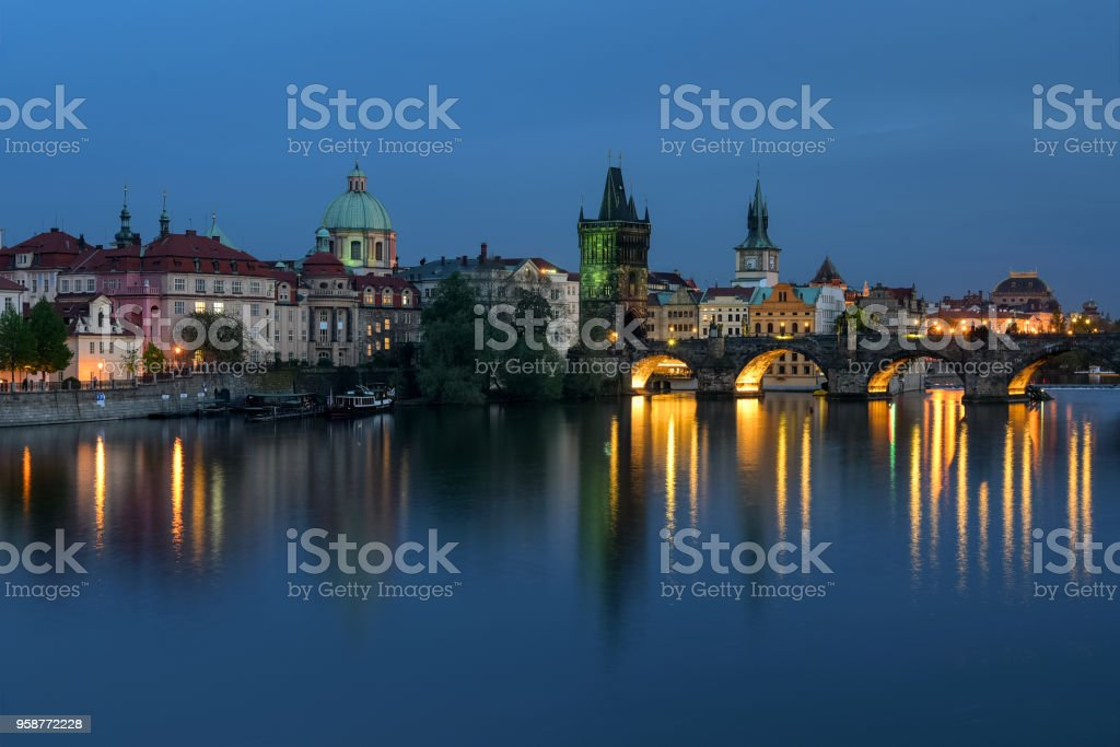 Prague: Charles Bridge stock photo