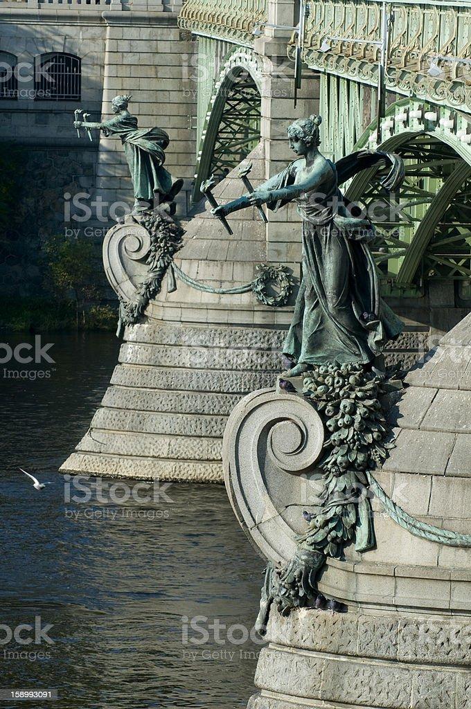 Prague - Chehuv bridge royalty-free stock photo