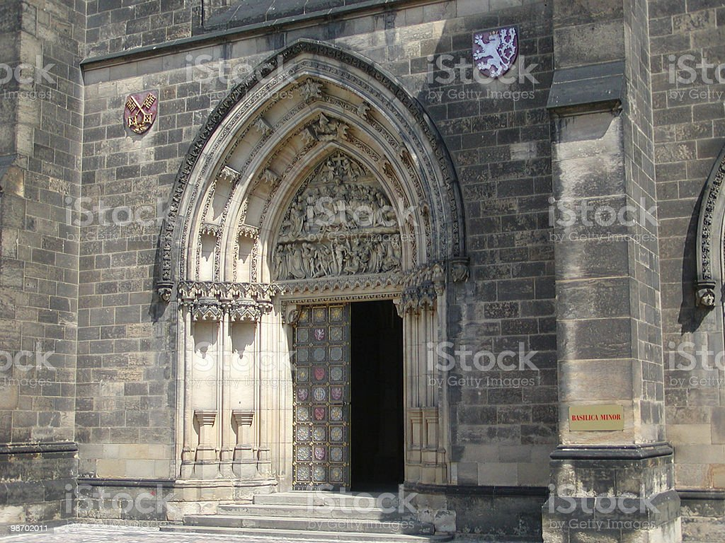 Prague Church Doorway royalty-free stock photo