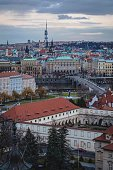 Panoramic view of roofs of Prague, taken from Hradcany castle. Panorama view of Prague