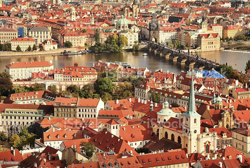 Prague cityscape stock photo