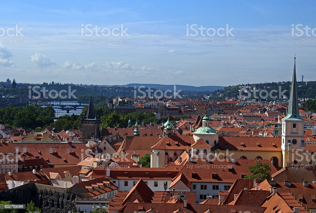 Prague Cityscape stock photo